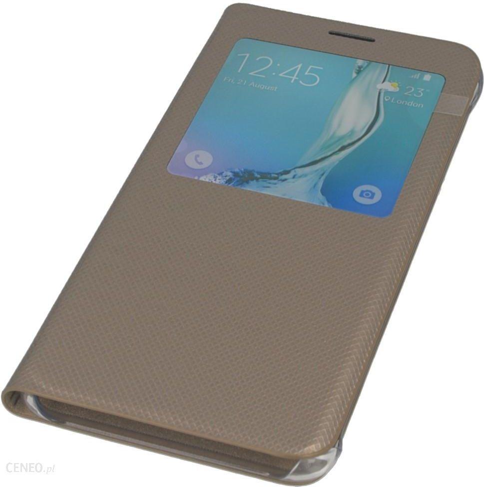 e110da5659d Izigsm Oryginalne Etui S-View Ef-Cg928Pfegww Złote Samsung Galaxy S6 Edge+  - zdjęcie