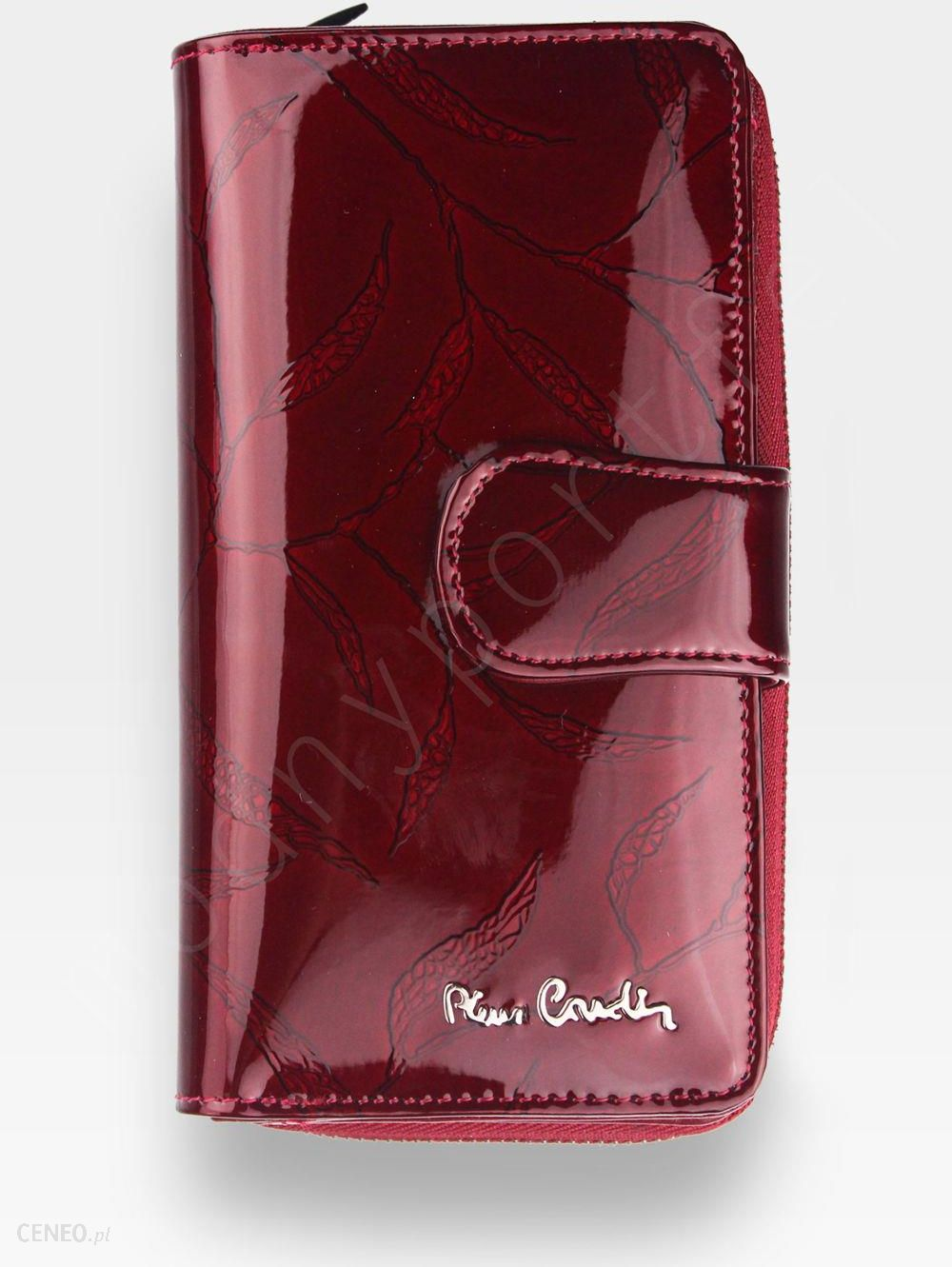0eab5885b6b2f Portfel Damski Pierre Cardin Skórzany Bordowy w Liście 116 - Bordowe Liście  - zdjęcie 1