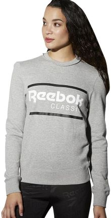 "Bluza Reebok F Iconic Crew Sweat ""MEDIUM GREY HEATHER"""