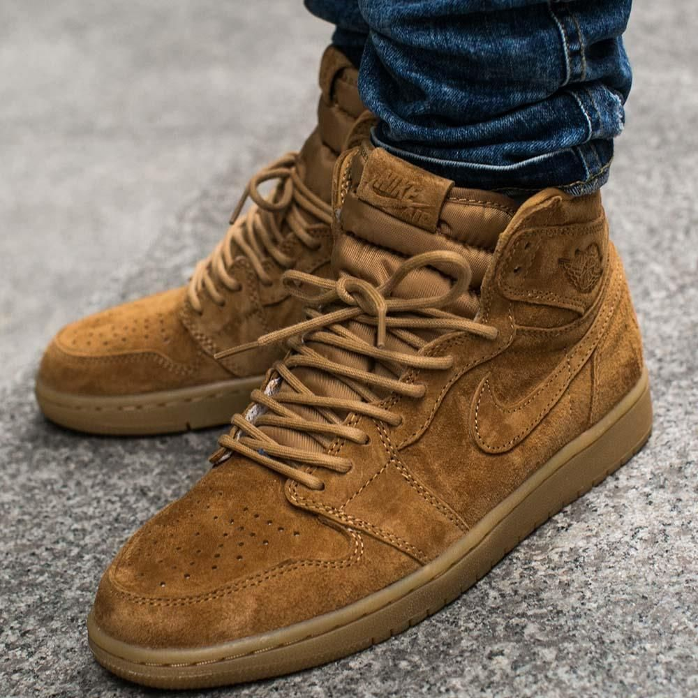 Buty Air Jordan 1 Retro High OG Wheat (555088-710) - Ceny i opinie ... e013c3ffe5e8