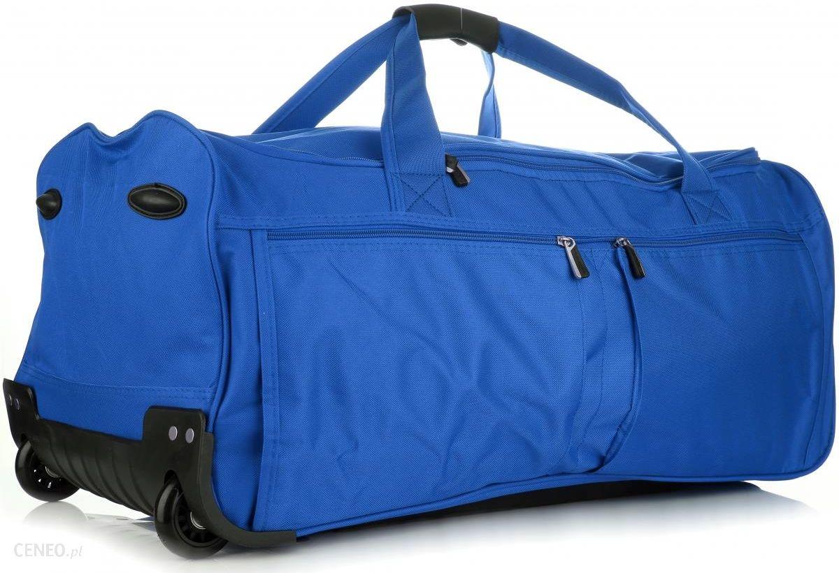 4ab263274a5f3 Duża Torba Podróżna XL David Jones Na kółkach ze Stelażem Niebieska  (kolory) - zdjęcie
