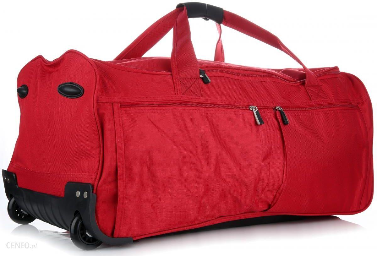 660f27aaa70b6 Torby Podróżne David Jones XL Na Kółkach ze Stelażem Duża Solida i  Wytrzymała Czerwona (kolory