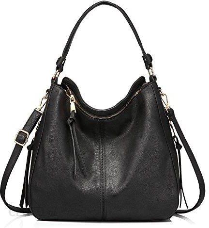 b1126bf45f8f8 Amazon Torebki damska torebka skórzana torba na ramię Designer Hobo  kieszenie z dużym z frędzli -