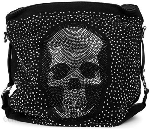 f5fc2593ff4d5 Amazon Torba ręczna na stylebreaker aplikacją ze strasem, trupia czaszka i  Strass nity, torba