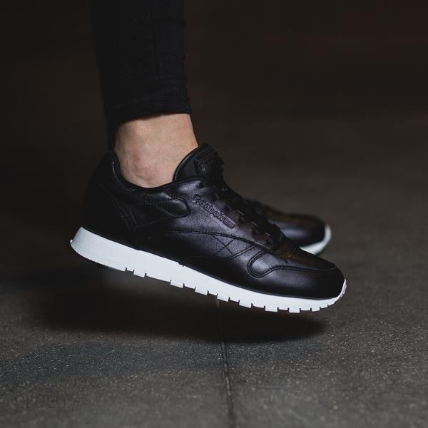 4d89fc063ef6c Buty damskie sneakersy Reebok Classic Leather Pearlized BD5210 - CZARNY -  zdjęcie 1