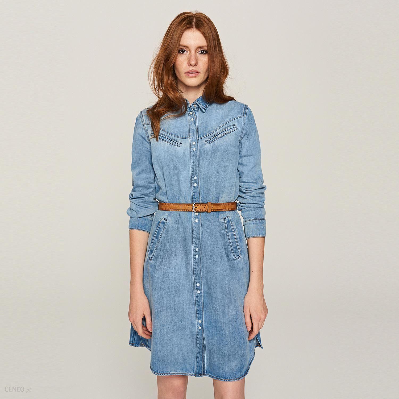 af61b31e2f Reserved - Jeansowa sukienka - Niebieski - Ceny i opinie - Ceneo.pl