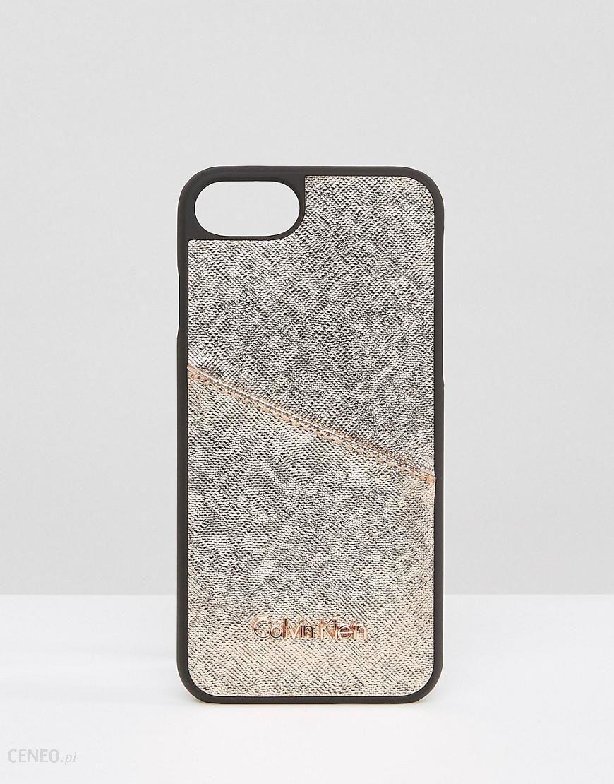 sale retailer 68b4a 2a84a Calvin Klein IPhone 6/6s/7/8 Metallic Case with Logo - Black - Ceneo.pl