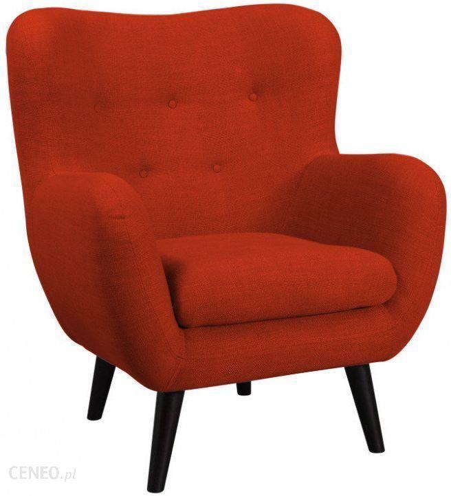 fotel retro vintage george bydgoskie czerwie�