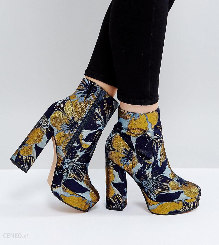 b5e2c6c8ba9 ASOS ESCAPE Wide Fit Platform Boots - Multi - zdjęcie 1
