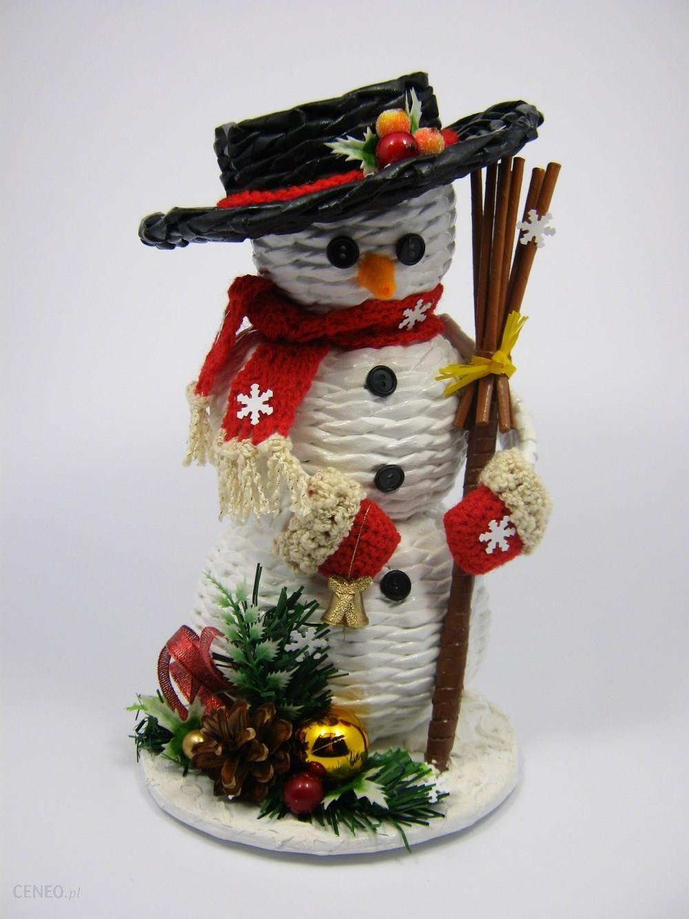 3c67042ecbab3e Bożonarodzeniowy bałwanek z wikliny papierowej - zdjęcie 1 ...