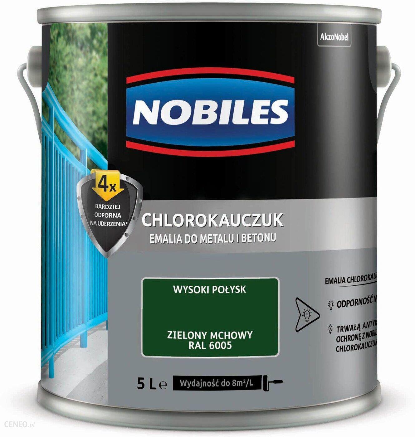 Farba Nobiles Emalia Chlorokauczukowa Do Metalu I Betonu Zielona