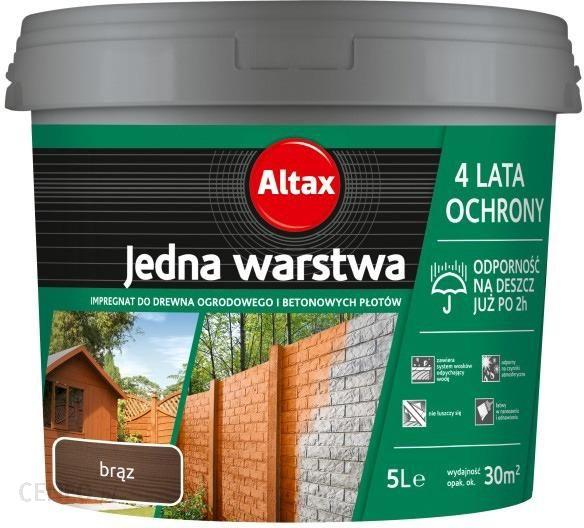 Altax Impregnat Drewno Beton Brazowy 5l Opinie I Ceny Na Ceneo Pl
