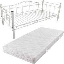 Vidaxl łóżko Metalowe Ze Stelażem Białe Materac 90x200 Opinie I Atrakcyjne Ceny Na Ceneopl