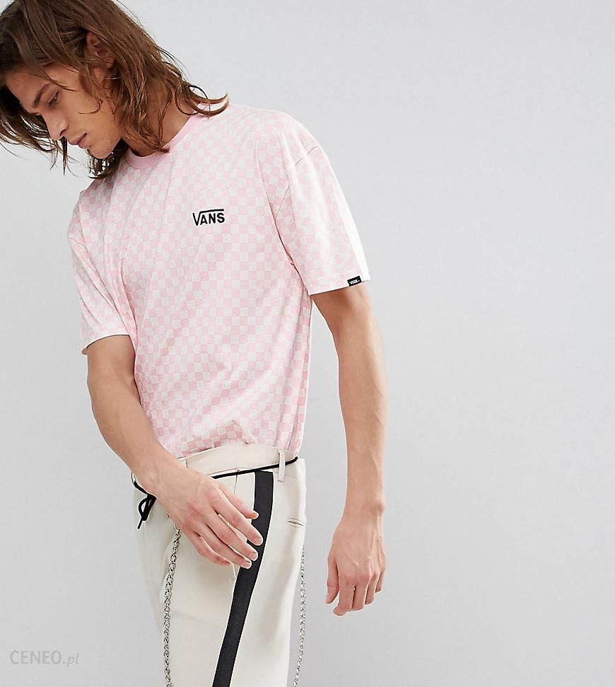 70b997d264 Vans Oversized Checkerboard T-Shirt In Pink Exclusive To ASOS - Pink -  zdjęcie 1