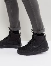 Nike Lunar Force 1 Duckboot '17 Trainers In Black 916682-002 - Black