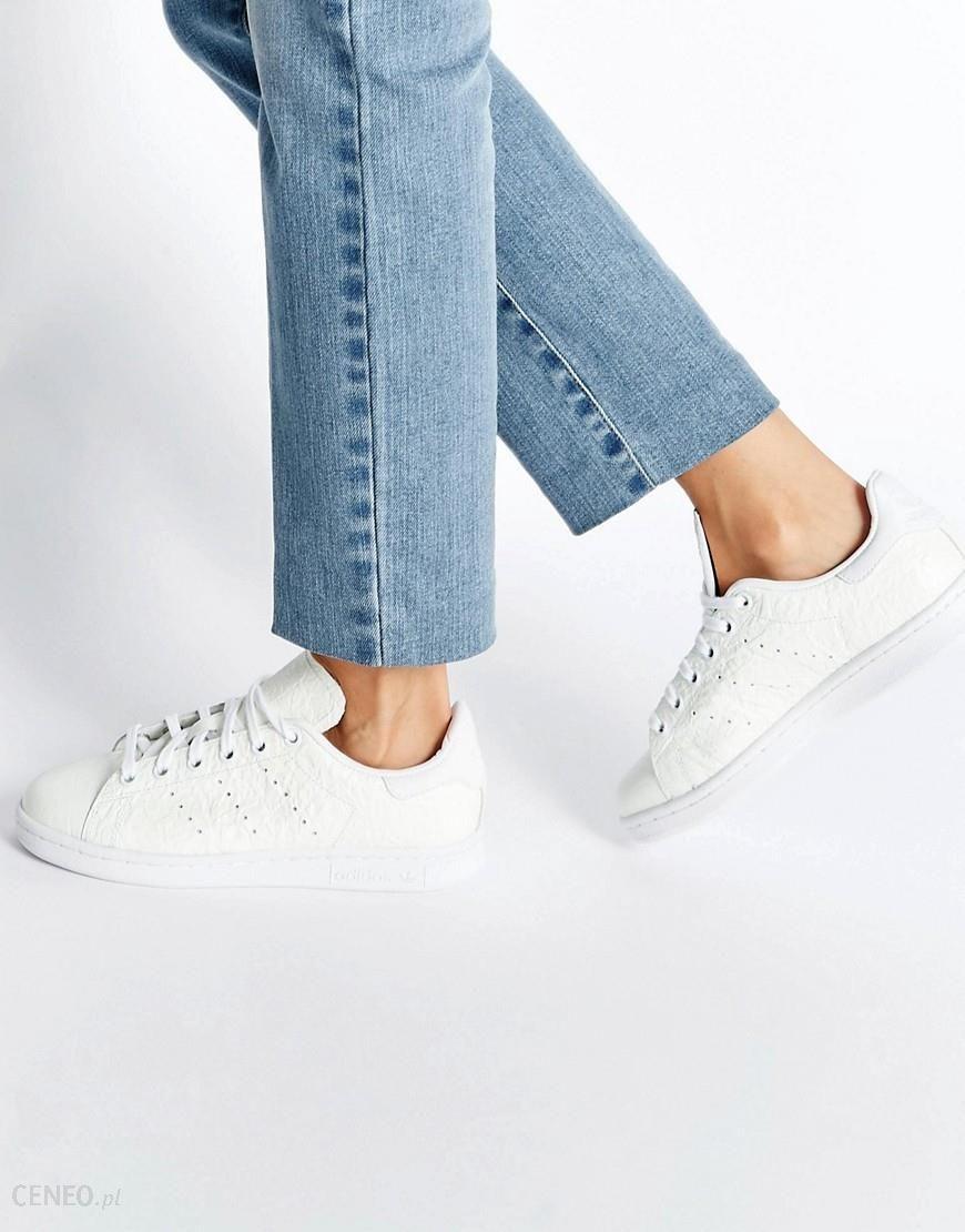 Adidas Originals Off White Textured Leather Trainers White Ceneo.pl