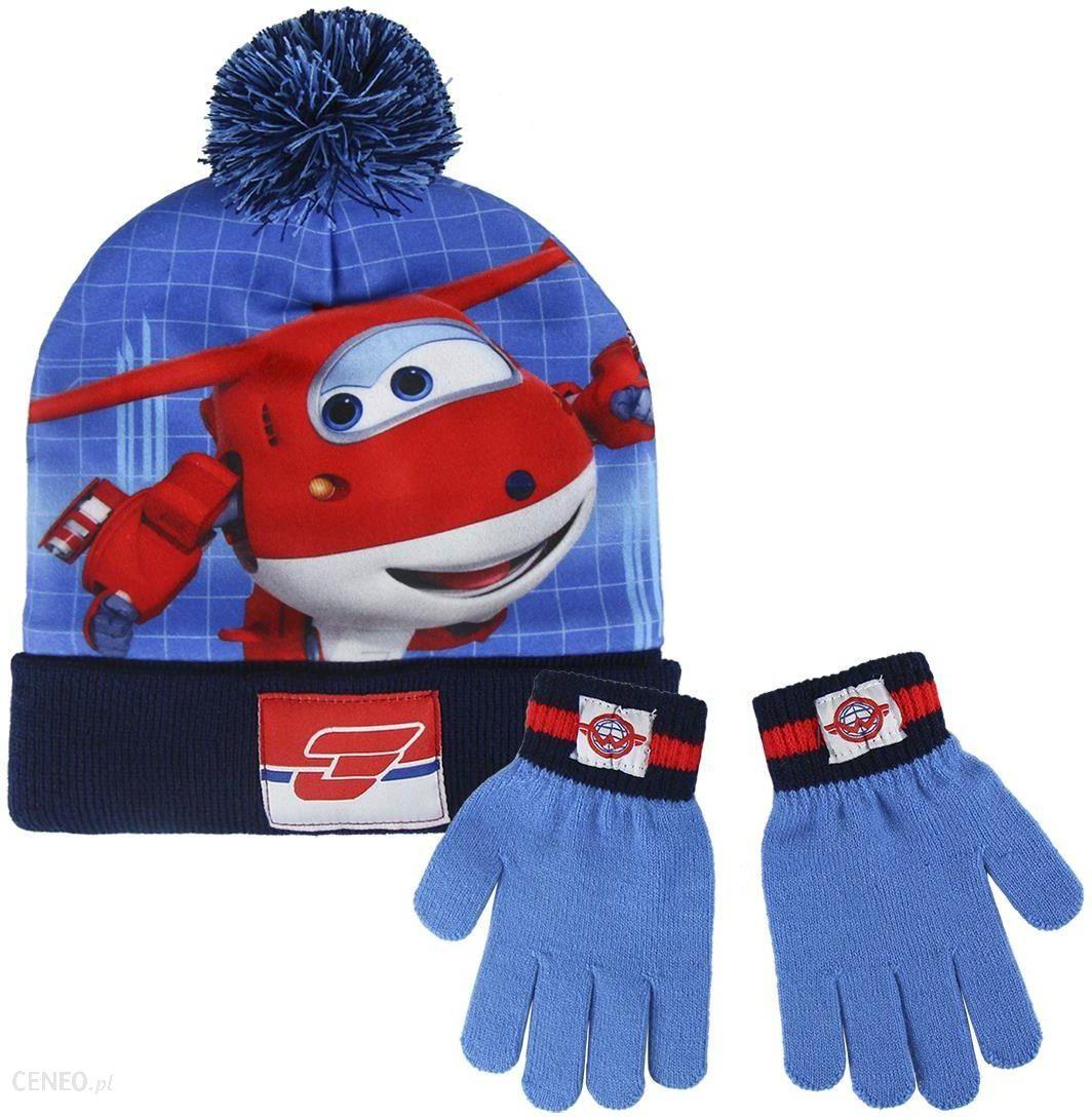 Komplet: czapka jesienna zimowa i rękawiczki Super Wings