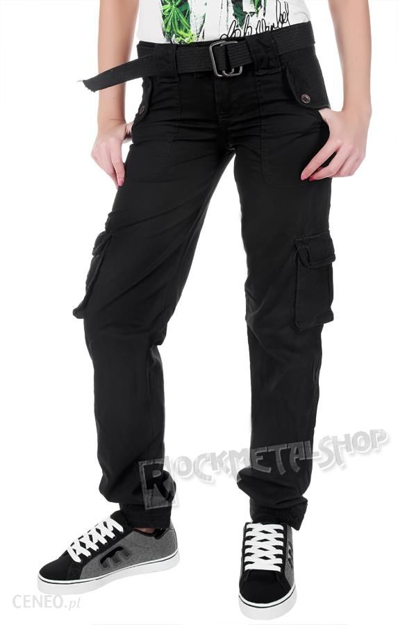 0a1035ab7cefe9 spodnie bojówki damskie LADIES PREMIUM TROUSERS SLIMMY BLACK - zdjęcie 1