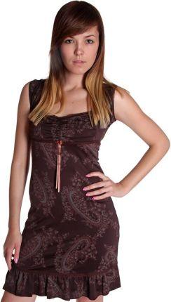 64769687b9 Numoco Sukienka rozkloszowana marta z koronką - bordowa - Ceny i ...