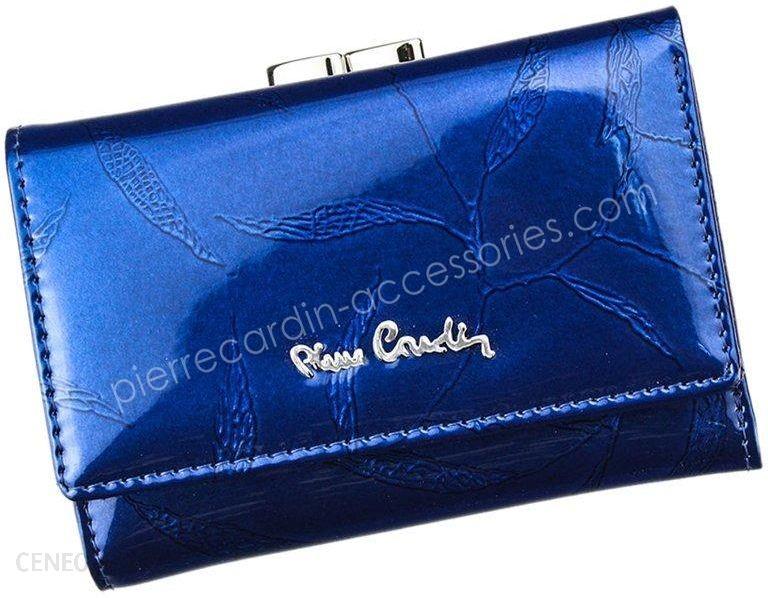7fe453fca17ce Portfel damski skórzany PIERRE CARDIN 02 LEAF 117 Niebieski - niebieski -  zdjęcie 1