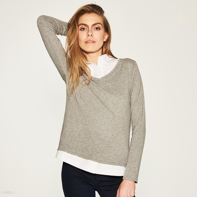 8da76f51a2 House - Sweter z dekoltem w serek - Jasny szar - Ceny i opinie ...