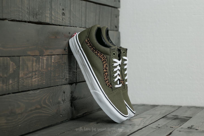5095d882fbf7b8 Vans Old Skool (Mini Leopard) Army Green/ True White - zdjęcie 1