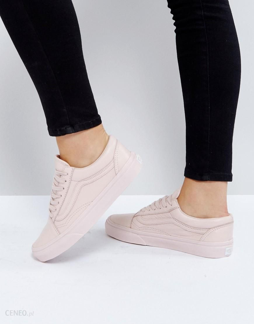 Vans Old Skool Trainers In Pastel Pink Mono Leather Pink Ceneo.pl
