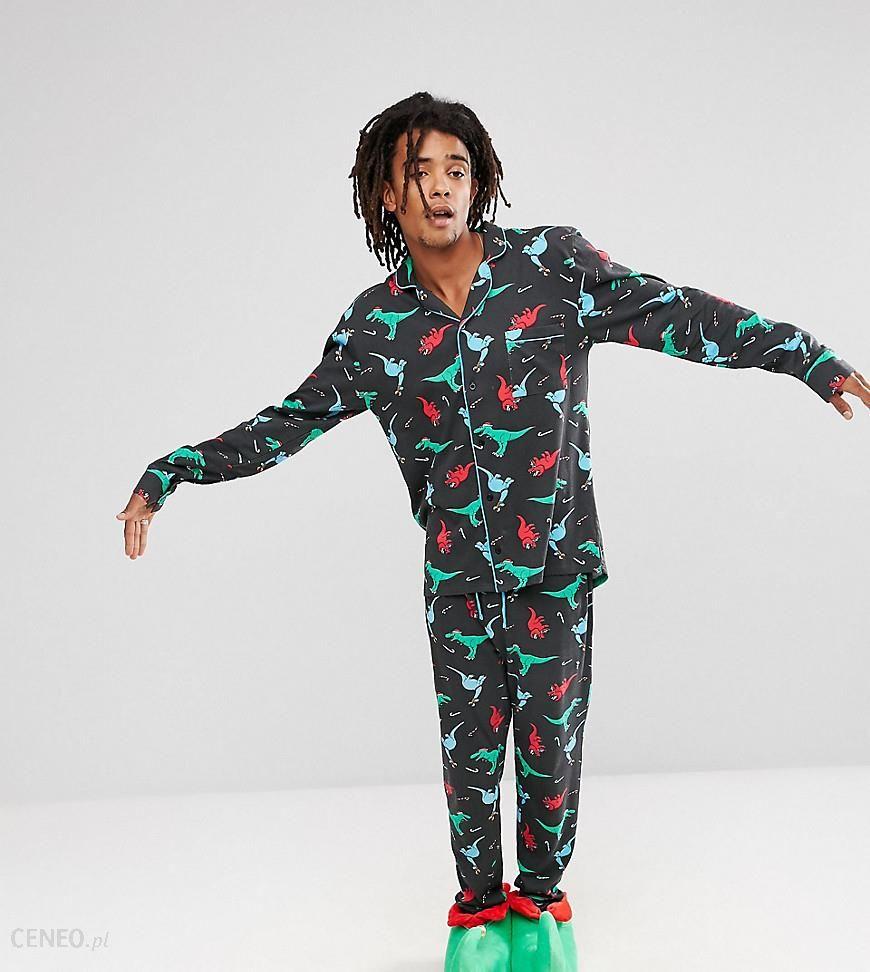 meticulous dyeing processes coupon code on sale Chelsea Peers Christmas Pyjamas in Dinosaur Print - Black - Ceneo.pl