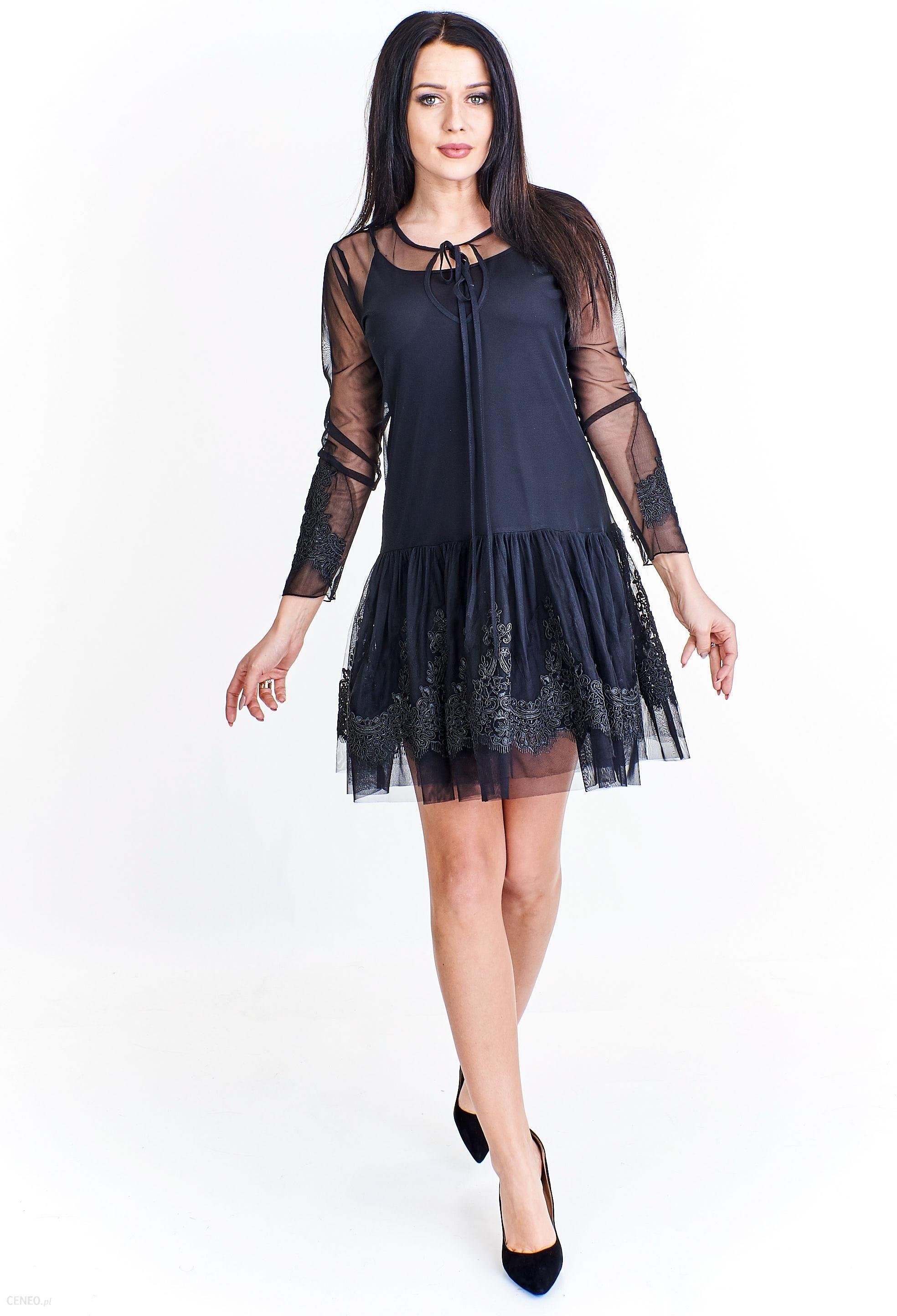 7a491b63 PtakModa - Tiulowa sukienka z obniżonym stanem NORBI - Ceny i opinie -  Ceneo.pl