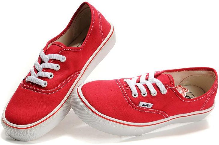 vans authentic czerwone