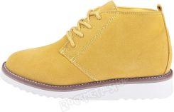 2b422c287a794 buty zamszowe NEW AGE - ŻÓŁTE / YELLOW (WS1272)