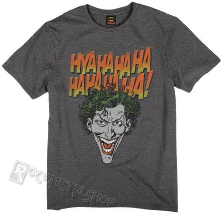 fe05fcb7d koszulka BATMAN - JOKER FACE HYAHAHAHA antracytowy melanż