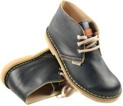 1cec3f1373cbb buty skórzane NAGABA - GRANAT / ŻÓŁTY BRZEG (082)