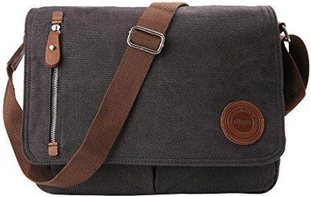 dcb45bee6c4b9 Amazon gibgas unisex Vintage Canvas torba na ramię Mężczyźni Torba na ramię  Messenger Bag zapewnia 14