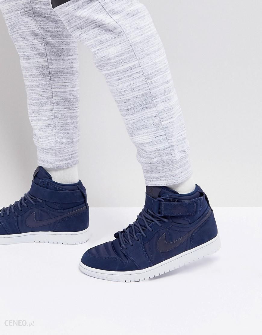 Nike Air Jordan 1 Retro High Strap Trainers In Navy 342132 400 Navy Ceneo.pl