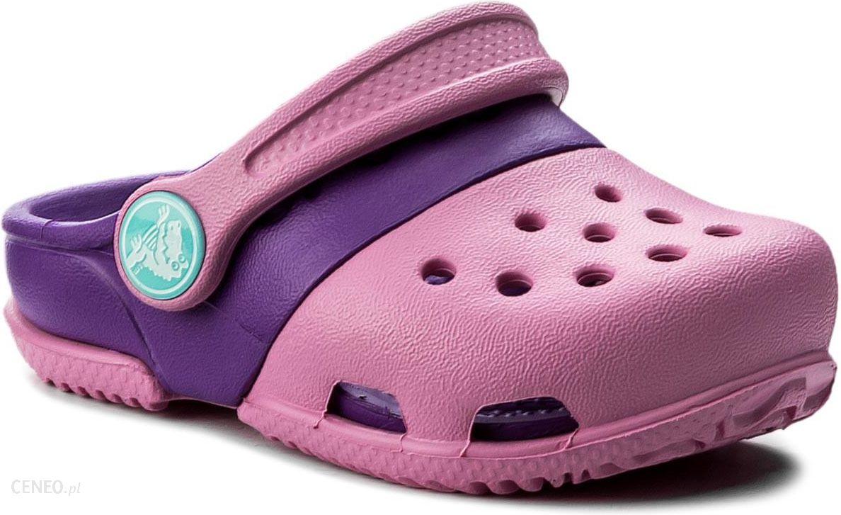 2842ad6290b82 Klapki CROCS - Electro II Clog 15608 Party Pink Neon Purple - Ceny i ...
