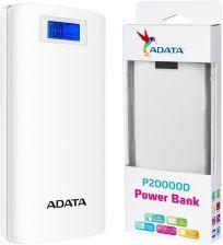 Powerbank Adata P20000D 20000mAh Biały (AP20000DDGT5VCWH)