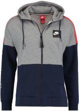 101bf6bd9955 Nike Sportswear AIR FULL ZIP HOODIE Bluza rozpinana carbon  heather university red obsidian white