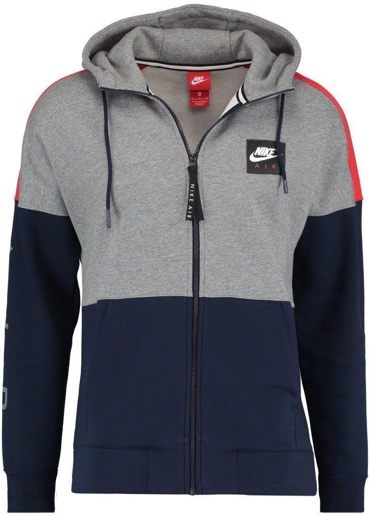 4d40d60db09d Nike Sportswear AIR FULL ZIP HOODIE Bluza rozpinana carbon  heather university red obsidian