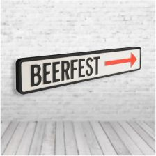 Shh Interiors 'Beer Fest' Vintage Street Sign