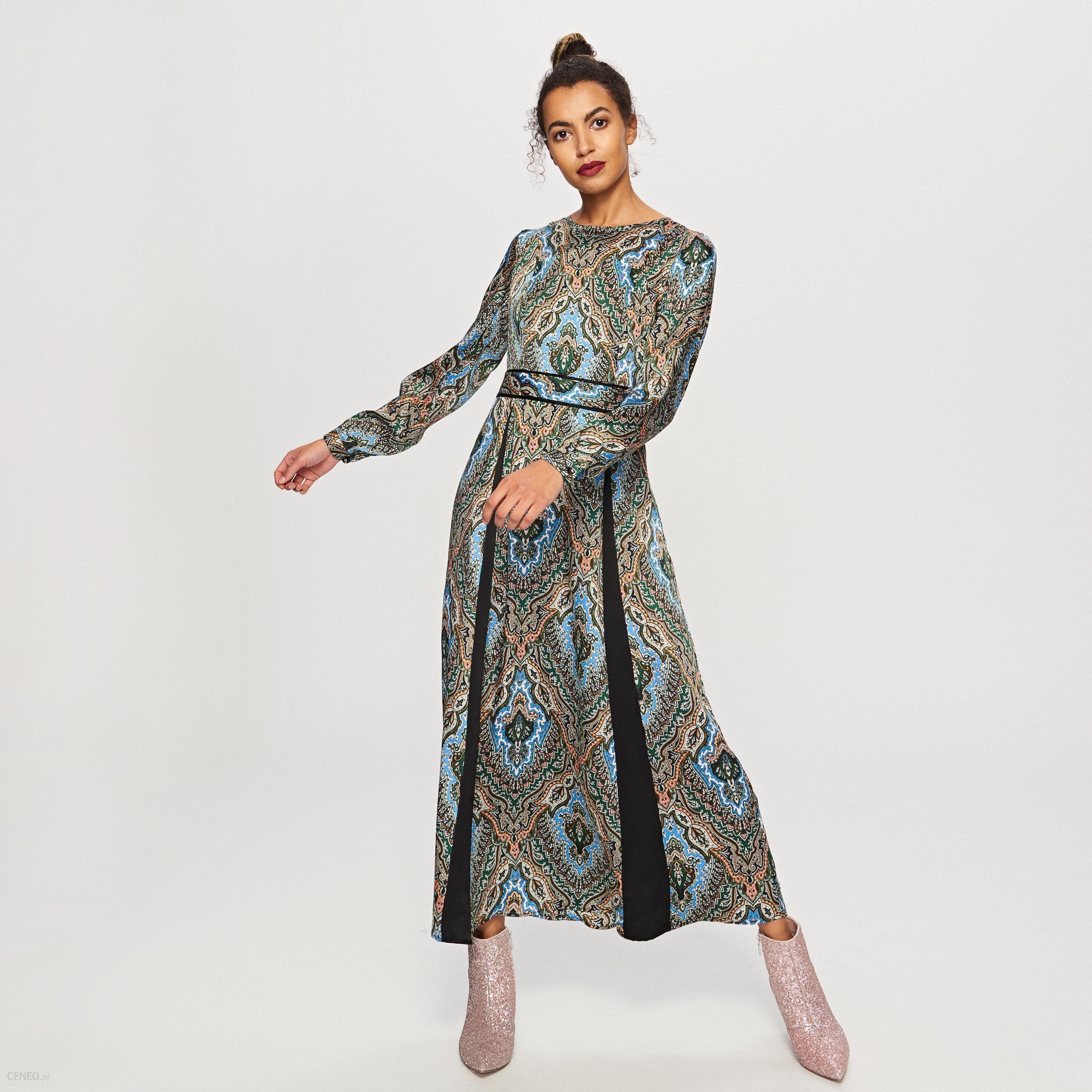 23cbac0f Reserved - Wzorzysta sukienka maxi - Wielobarwn - Ceny i opinie - Ceneo.pl