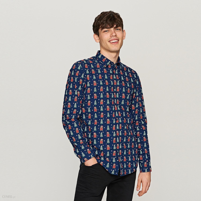 579d4f695d09 Reserved - Koszula z nadrukiem świątecznym - Wielobarwn - Ceny i ...
