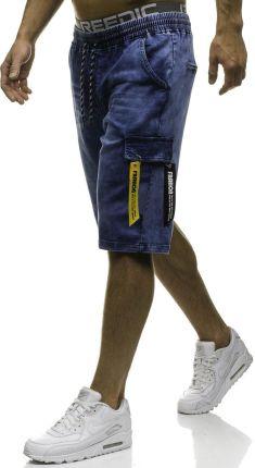655e7715c799 Krótkie spodenki jeansowe męskie granatowe Denley HY187