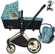 Cybex Platinum Priam Cherubs By Jeremy Scott Blue Głęboko Spacerowy + Fotelik Cybex Cloud Q