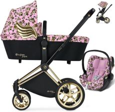 Cybex Platinum Priam Cherubs By Jeremy Scott Pink Głęboko Spacerowy + Fotelik Cybex Cloud Q