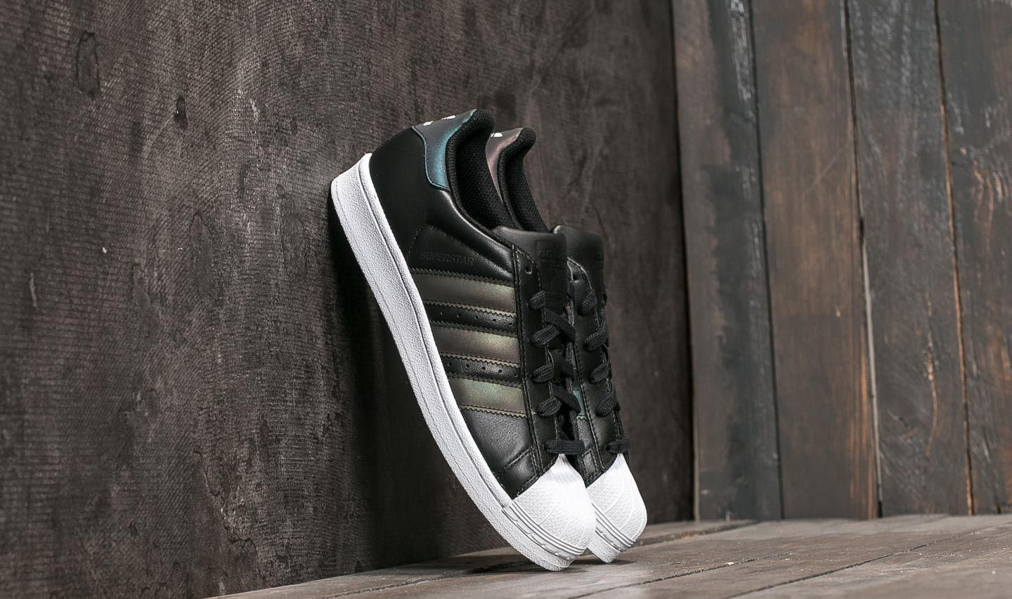 adidas Superstar Holographic Big Kids Db1209 White Black Shell Shoes Size 7