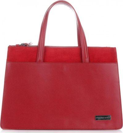 ae13a2cff4383 Klasyczne Torebki ze skóry naturalnj XL firmy Vittoria Gotti Czerwone  (kolory) ...