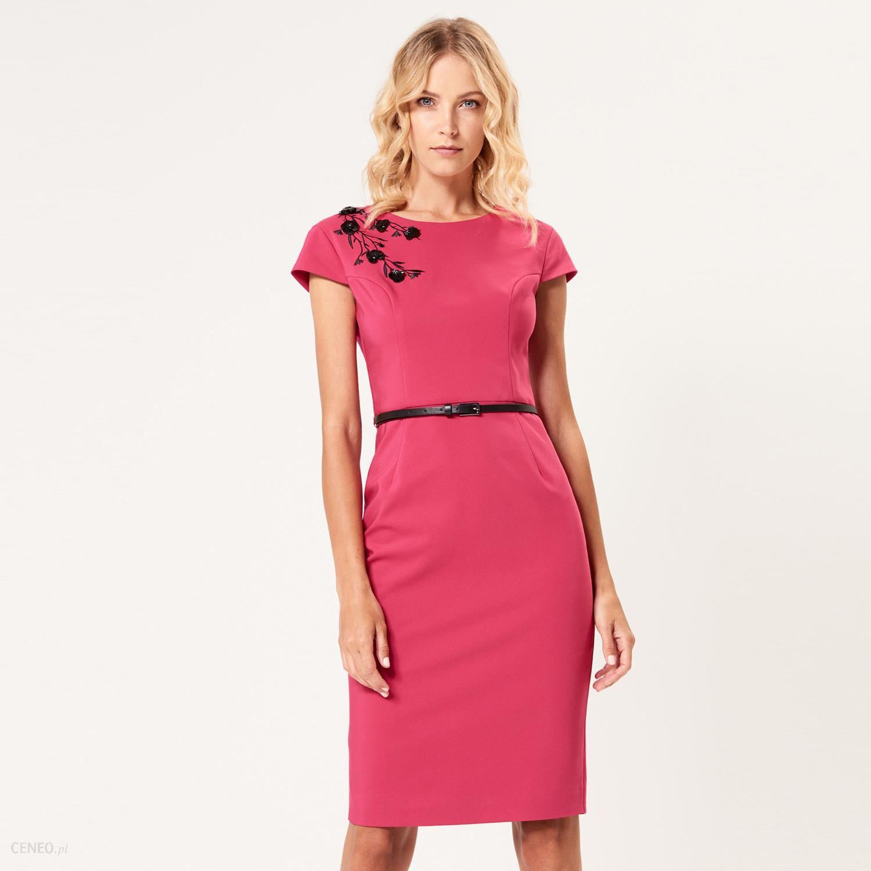17f31686 Mohito - Elegancka ołówkowa sukienka - Różowy - Ceny i opinie - Ceneo.pl