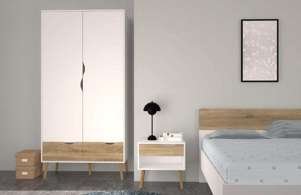 Tvilum łóżko Oslo Biało Beżowe 160 X 200