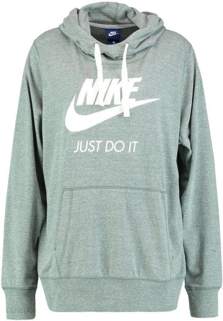 2743e411a Nike Sportswear GYM VINTAGE HOODIE Bluza z kapturem clay green/sail -  zdjęcie 1